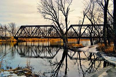 Photograph - Winter Trestle by Bonfire Photography