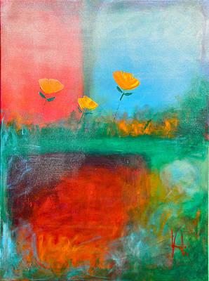 Winter Tulips Rain And Snow Original by Johane Amirault