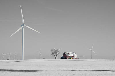 Photograph - Winter Turbine Farm by Dylan Punke