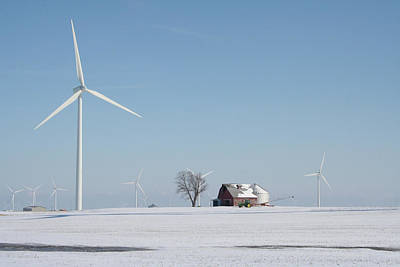 Photograph - Winter Turbine Farm Fc by Dylan Punke