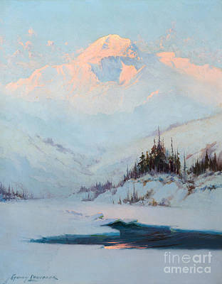Winter Sports Painting - Winter Twilight On Mt. Mckinley by MotionAge Designs
