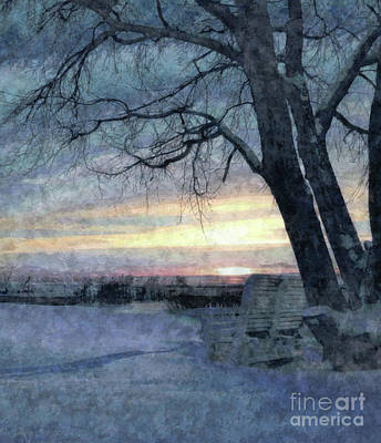 Painting - Winter Twilight by Tlynn Brentnall