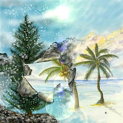 Art Print featuring the digital art Winter Vacation by Darren Cannell