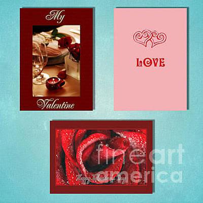Digital Art - Winter Valentine's Day by JH Designs