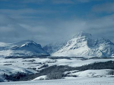 Photograph - Winter View Of Rising Wolf Mountain by Tracey Vivar