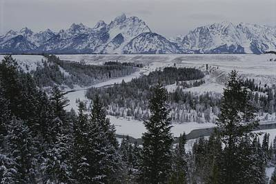 Winter View Of The Snake River, Grand Art Print