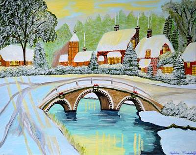 Painting - Winter Village by Magdalena Frohnsdorff