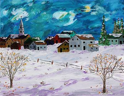 Painting - Winter Village by Mike Caitham