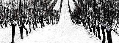 Winter Vineyard Original by Eve Holloran