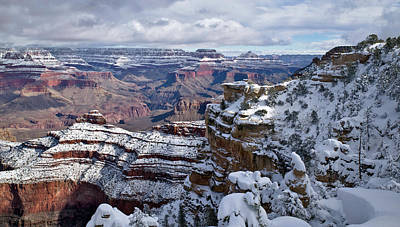 Photograph - Winter Vista - Grand Canyon by Paul Riedinger