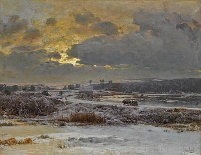 Painting - Winter by Vladimir Donatovich Orlovsky