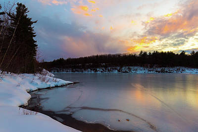 Photograph - Winter Wachusett Sunset 1 by Brian Hale