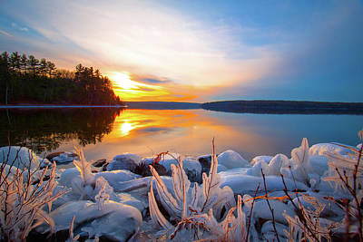 Photograph - Winter Wachusett Sunset 3 by Brian Hale