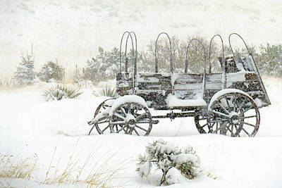 Photograph - Winter Wagon by Dawn Key