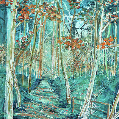 Covert Painting - Winter Walk by Diane Griffiths