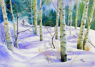 Winter Walk Art Print by Gail Vass