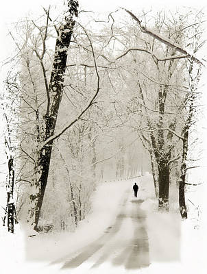 Snow Digital Art - Winter Walk by Jessica Jenney