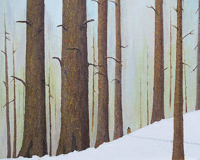 Painting - Winter Walk by L J Oakes