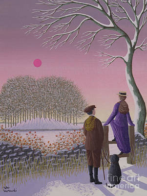Winter Walking  Art Print by Peter Szumowski