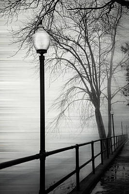 Photograph - Winter Walkway Defiance Ohio by Michael Arend