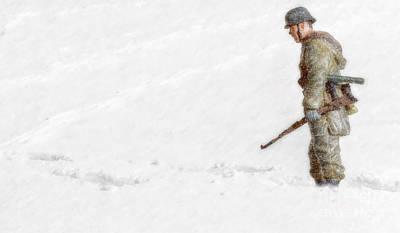 Youth Digital Art - Winter War Panzer Grenadier by Randy Steele