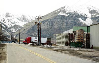 Photograph - Winter Warehouse by Tom Cochran