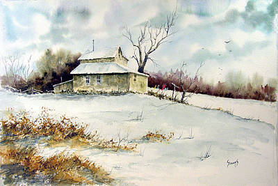Laundry Painting - Winter Washday by Sam Sidders