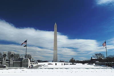 Photograph - Winter Washington Monument by George Taylor