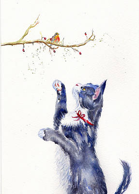 Painting - Winter Watch by Debra Hall
