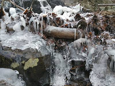 Photograph - Winter Water Flow 11 by Robert Nickologianis