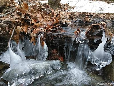 Photograph - Winter Water Flow 6 by Robert Nickologianis
