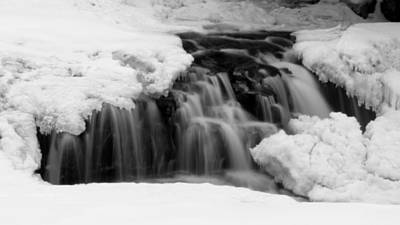 Photograph - Winter Waterfall In Jackson, Nh by Suzanne DeGeorge