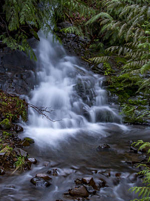 Photograph - Winter Waterfall by Jean Noren