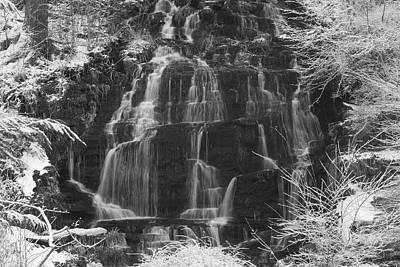 Photograph - Winter Waterfall Slatestone Brook Falls by John Burk