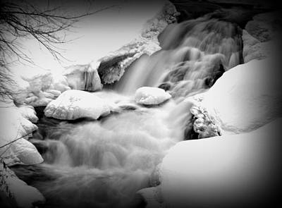 Photograph - Winter Waterfall by Suzanne DeGeorge