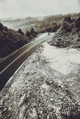 Winter Scene Photograph - Winter Weather Road by Jorgo Photography - Wall Art Gallery
