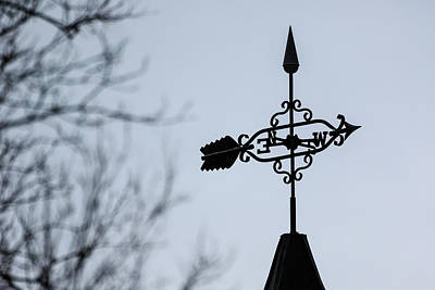 Photograph - Winter Weathervane by Joni Eskridge