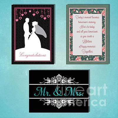 Digital Art - Winter Wedding by JH Designs