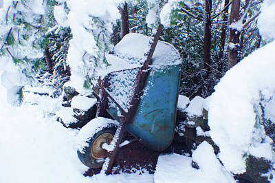 Photograph - Winter Wheelbarrow by Adria Trail