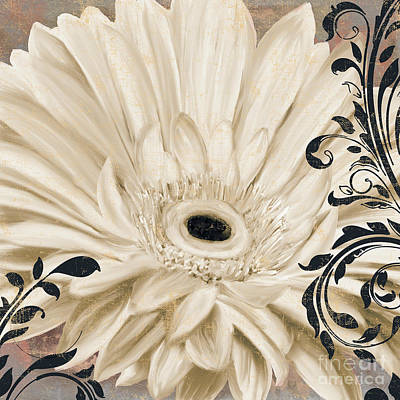 White Daisy Painting - Winter White I by Mindy Sommers