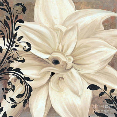 Macro Painting - Winter White II by Mindy Sommers