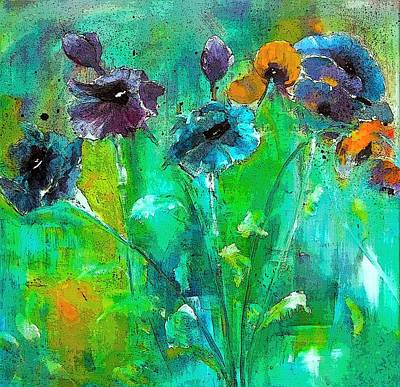 Digital Art - Winter Wind And Pansy Painting By Lisa Kaiser by Lisa Kaiser