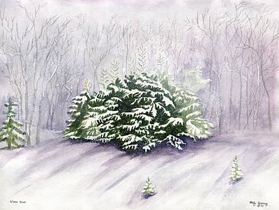 Ithaca Painting - Winter Wind by Melly Terpening