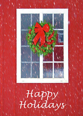 Winter Window - 3 Art Print
