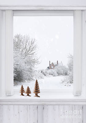 Winter Window Art Print by Amanda Elwell