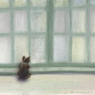 Winter Window Art Print by Bernadette Kazmarski