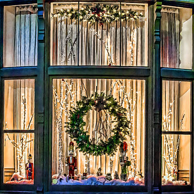Digital Art - Winter Window Display by John Haldane
