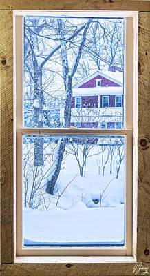 Frosty Mug Photograph - Winter Window by Joshua Zaring