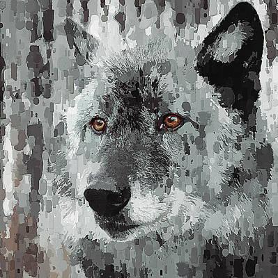 House Pet Digital Art - Winter Wolf by Yury Malkov