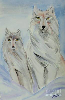 Painting - Winter Wolves by Lorah Tout